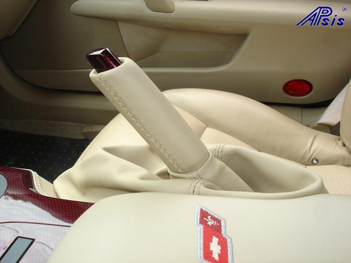 C6 C5R CF whole interior-installed-show ebrake cap-handle-1