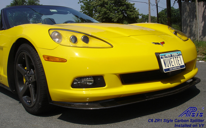 C6 CF Aero Kit-installed-front view-2-show splitter
