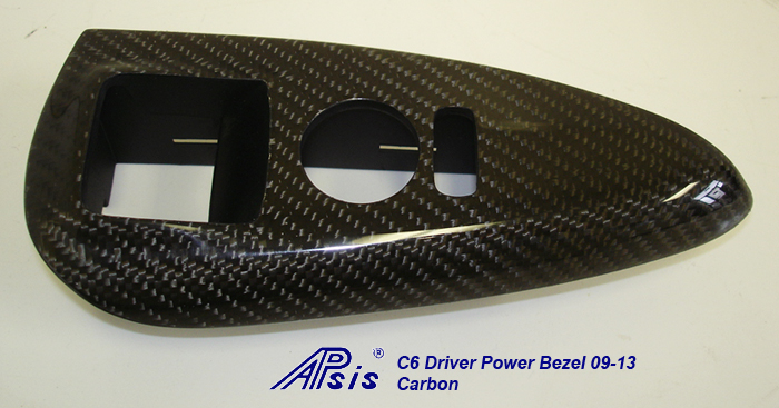 C6 CF Driver Power Window Bezel 09-13-individual