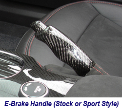 C6 CF E-Brake Handle-stock or sport style 250