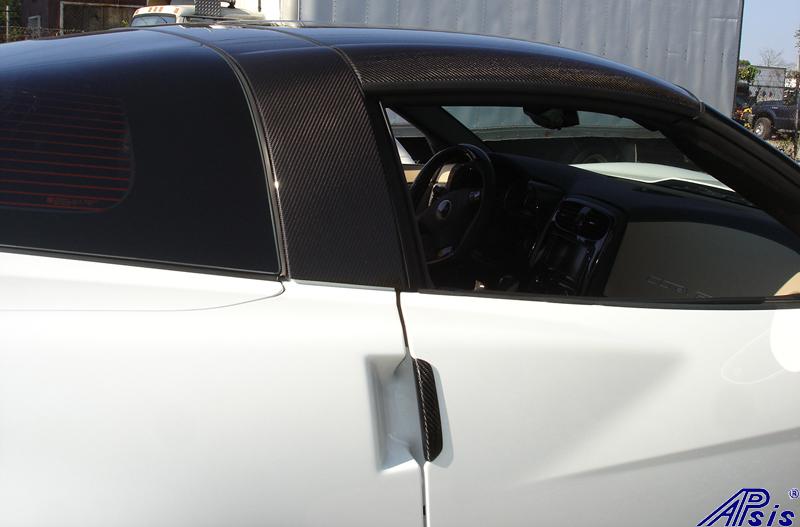 C6 CF Ext Door Handle+Halo+Roof on white car-1