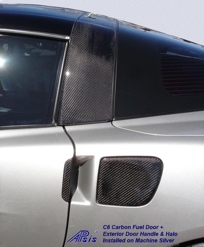 C6 CF Fuel Door+Ext Door Handle+Halo-installed on ms-2