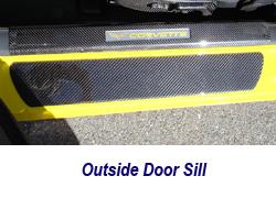 C6 CF Outside Door Sill 250