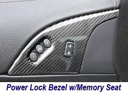 C6 CF Power Lock Bezel w-memory seat 250