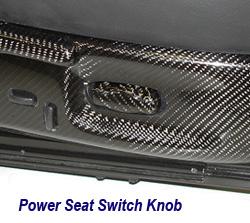C6 CF Power Seat Switch Knob 250