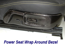 C6 CF Power Seat Wrap Around Bezel 250