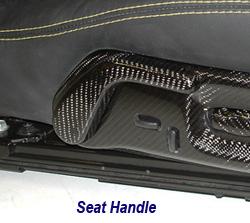 C6 CF Seat Handle 250