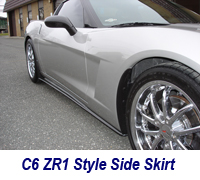 C6 CF Side Skirt+Side Mirror-installed on ms-1
