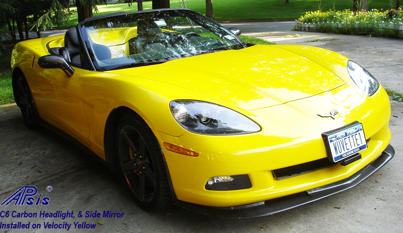 C6 Carbon Headlight-installed on jersey car-1a-crop