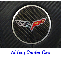 C6 Center Cap-carbon w-flag logo 200