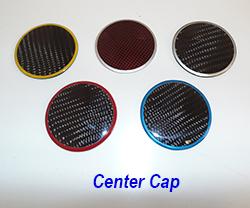 C6 Center Cap-plain w-assorted color ring 250