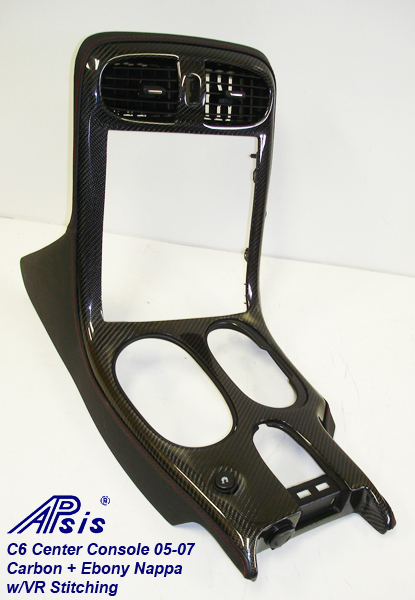 C6 Center Console 05-07-carbon + ebony w-vr stitching-2