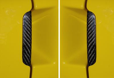 C6 Corvette Black CF-Ext. Door Handle-DF & PF -front view-400