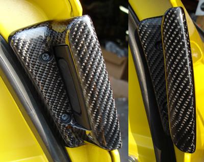 C6 Corvette Black CF-Ext. Door Handle-DF-open view- 400