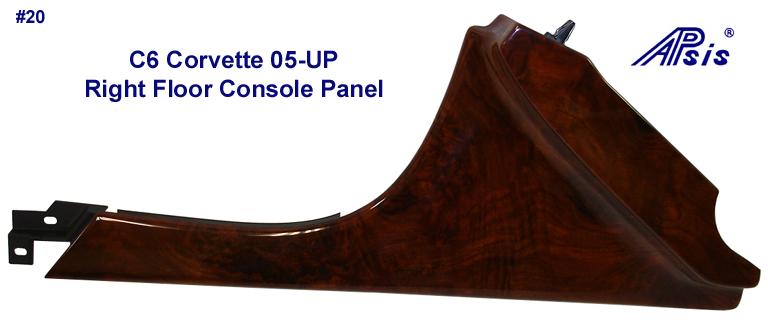 C6 Corvette Burlwood - Right Floor Console Panel - 768