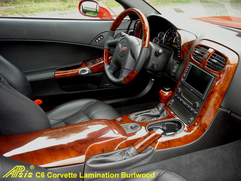 C6 Corvette Burlwood-whole view w-wood SW & SK-780