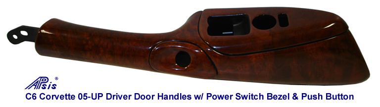 C6 DF Door Handle w-Push Button Bezel-burlwood-768