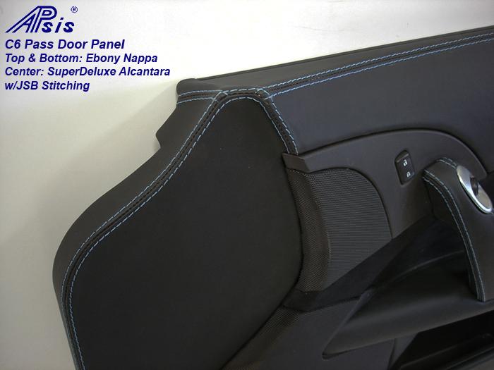 C6 Door Panel-ebony + alcantara w-jsb stitching-pass-close shot-1