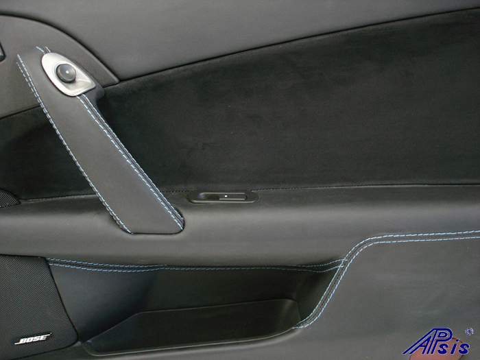 C6 Door Panel-ebony + alcantara w-jsb stitching-pass-close shot-2