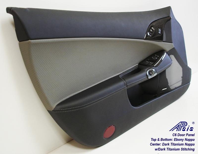 C6 Door Panel-perf dark titanium+ebony-driver-3-individual