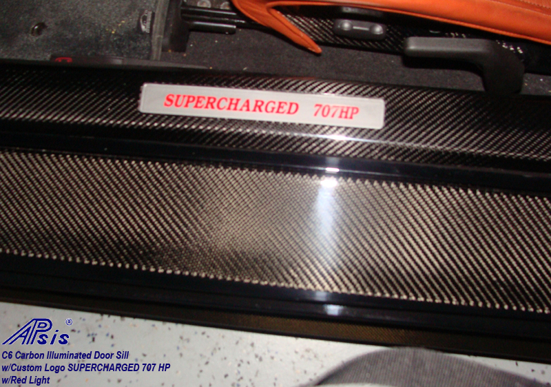 C6 Door Sill-carbon w-supercharged 707hp-red light-1