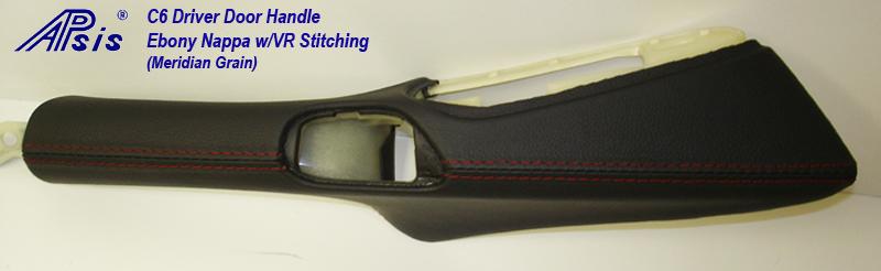 C6 Driver Door Handle-ebony w-vr stitching-1