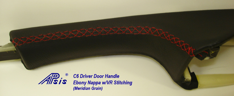 C6 Driver Door Handle-ebony w-vr stitching-2