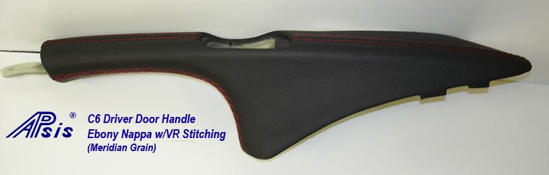 C6 Driver Door Handle-ebony w-vr stitching-3