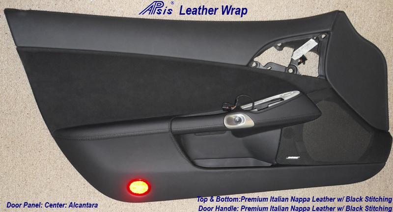 C6 Driver Door Panel & Door Handle - Nappa Leather & Alcantara-1