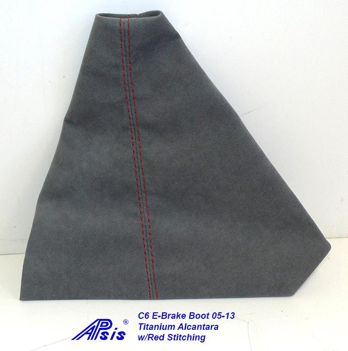 C6 E-Brake Boot-titanium alcantara-1