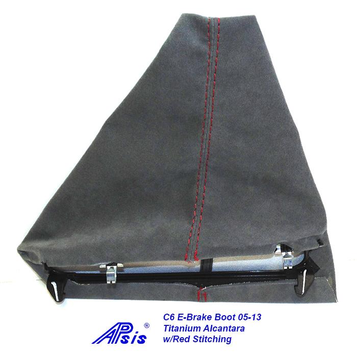 C6 E-Brake Boot-titanium alcantara-2