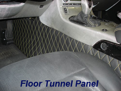 C6 Floor Tunnel Panel w-vy stitching-driver-4 w-stock seat