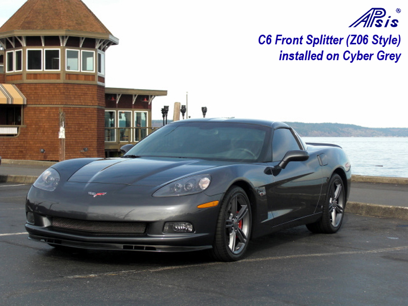 C6 Front Splitter-installed on cyber grey-1