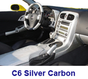 C6 Lamination Silver CF-Complete Pkg w-A-Pillar Frame & Glove Box-right view- 180