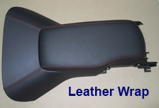 C6 Leather Wrap -Waterfall & Armrest w-red stitching-