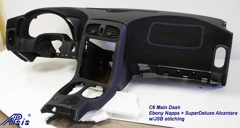 C6 Main Dash-ebony + alcan w-jsb stitching-front-2