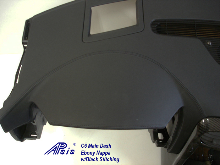 C6 Main Dash-ebony w-black stitching-individual-close shot-left-1