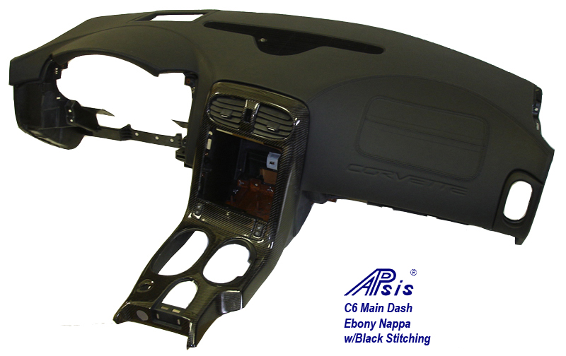 C6 Main Dash-ebony w-black stitching-individual-full view-front-w-pass air vent-3-done
