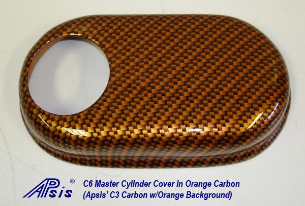C6 Master Cylinder Cover-orange carbon-individual-1