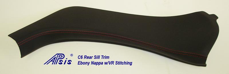 C6 Rear Sill Trim-ebony w-vr stitching-individual-5