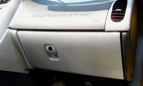C6 Silver CF-Glove Box-installed-2-crop