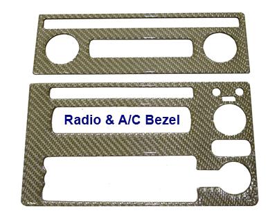 C6 Silver Carbon - Radio AC Bezel