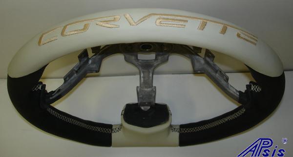 C6 Sport SW-Bk+linen w-corvette lettering on top-close shot-3