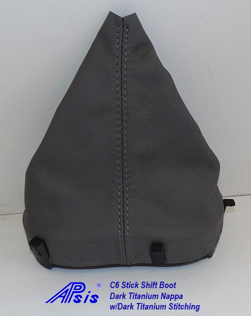 C6 Stick Shift Boot-dk titanium w-dk titanium stitching-2