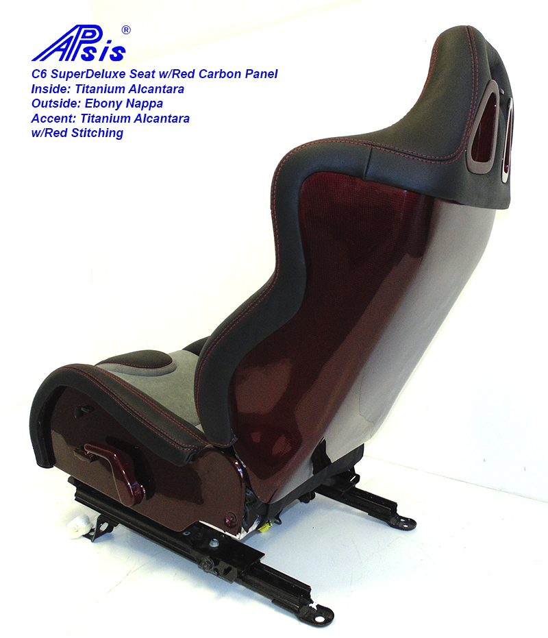 C6 SuperDeluxe Seat-ebony+light titanium w-red carbon panel-single-4