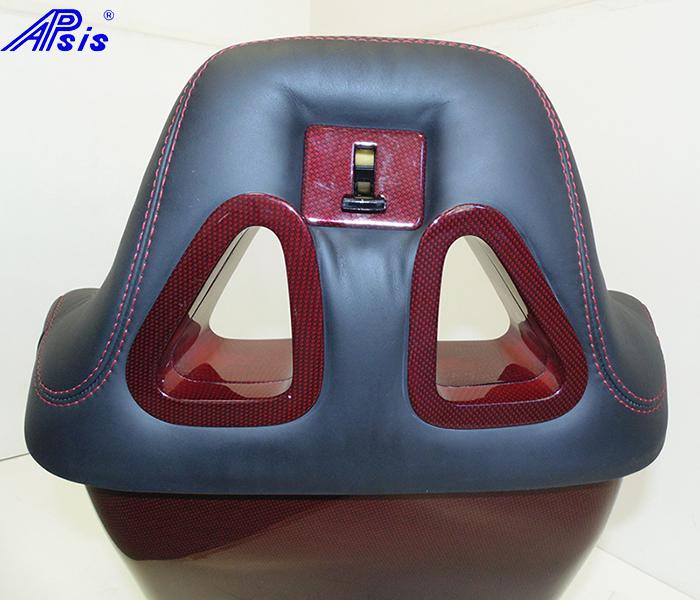 C6 SuperDeluxe Seat-ebony+titanium alcantara w-red carbon panel-triagle-2