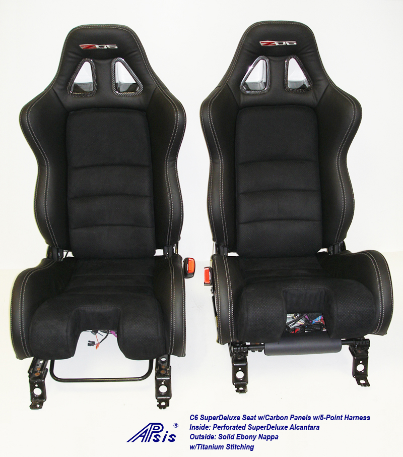 C6 SuperDeluxe Seat w-CF-EB+SA w-Ti-pair-straight view-1c w-flash