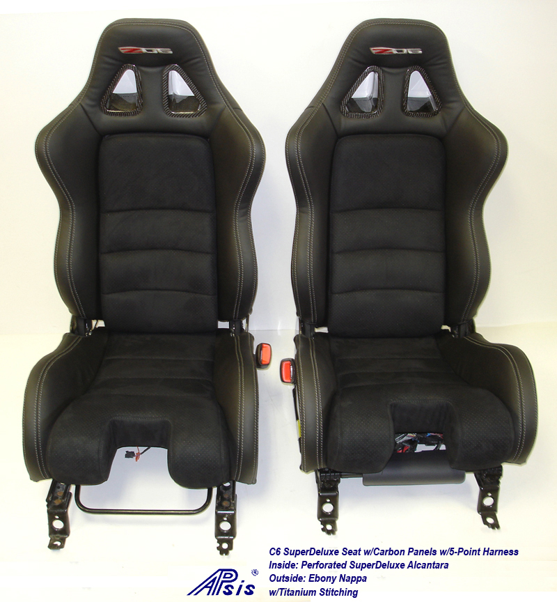 C6 SuperDeluxe Seat w-CF-EB+SA w-Ti-pair-straight view-2a w-flash