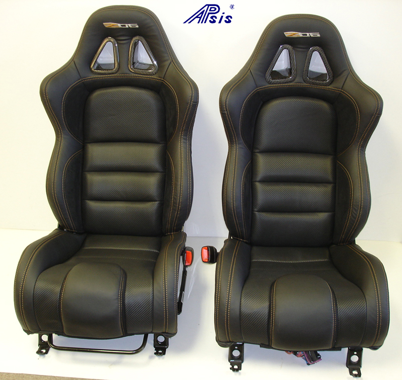C6 SuperDeluxe Seat w-carbon-EB+CL+AL w-orange stitching-pair-straight-1