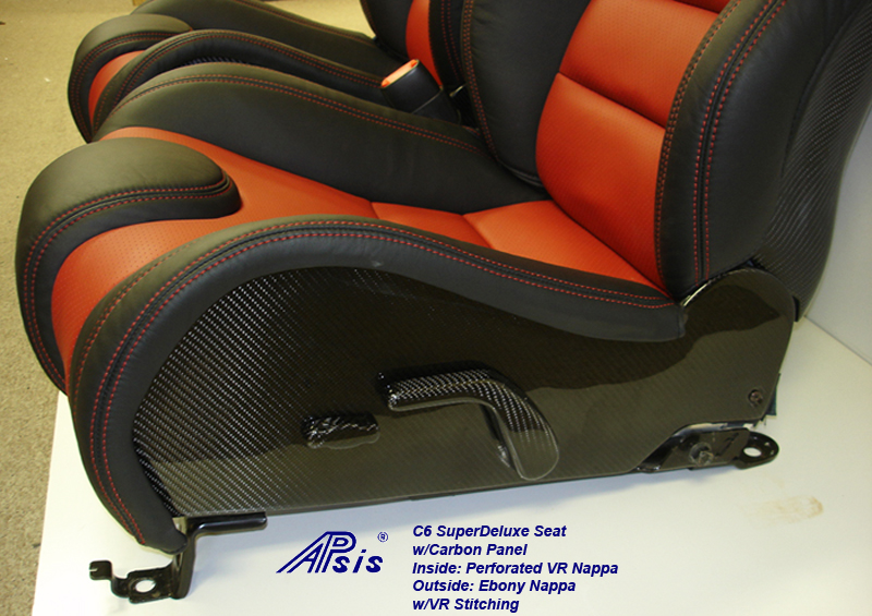 C6 SuperDeluxe Seat w-carbon panel-close shot-show lower carbon panel-driver-1